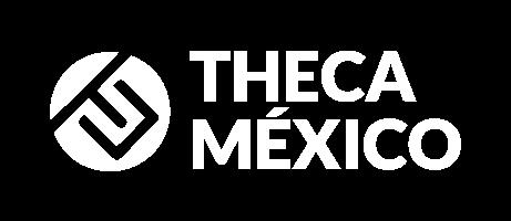THECA México logotipo blanco